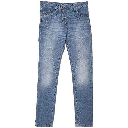 Please, P78A, Damen Jeans Hose, Stretchdenim, Midblue, XS [21755]