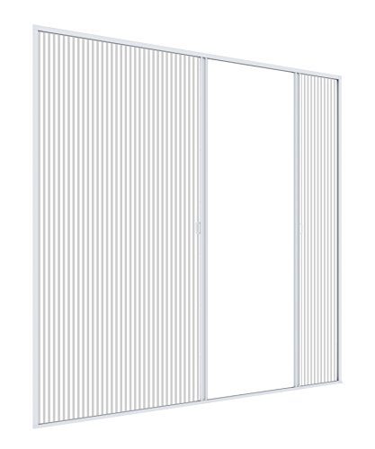 Windhager Insektenschutz Plissee-Tür Expert Fliegengitter Alurahmen für Türen, individuell Kürzbar, ExtraGross für Doppeltüren, 240 x 240 cm, weiß