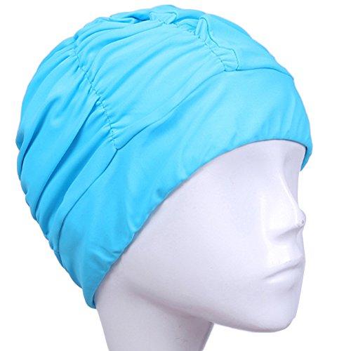 ZAK168Badekappe, Echte Fashion Damen Turban, Speziell für Schwimmer mit Langen, Oder lockiges Haar