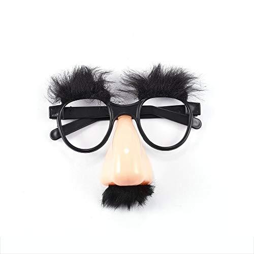 efälschte Nase Augenbraue Schnurrbart Clown Kostüm Requisiten Spaß Mitbringsel Gläser WholesaleNew Heißer Schwarz ()