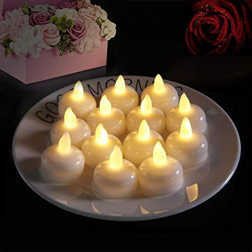Flintronic 12 lumini candele led, candele senza fiamma con batterie adatte per decorazione di casa camera natale pasqua festa di matrimonio - bianco caldo [classe di efficienza energetica a]