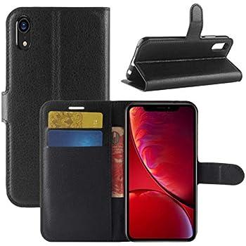 5964418533666d Apple iPhone XR - Flip Case iPhone XR Wallet Case Premium Quality PU Leather  Protective Case with Card slots for Apple iPhone XR 6.1 Inch (iPhone XR  Book ...