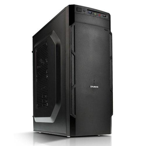 Zalman ZM-T1 PLUS - Caja de ordenador de sobremesa (ventana lateral, 2 x USB, microATX, miniATX), negro