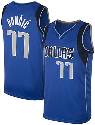 Formesy NBA Jersey Doncic Nr. 77 Basketball Trikot Dallas Mavericks Jersey Basketball Weste Shirt Basketball Anzug für Herren Männer