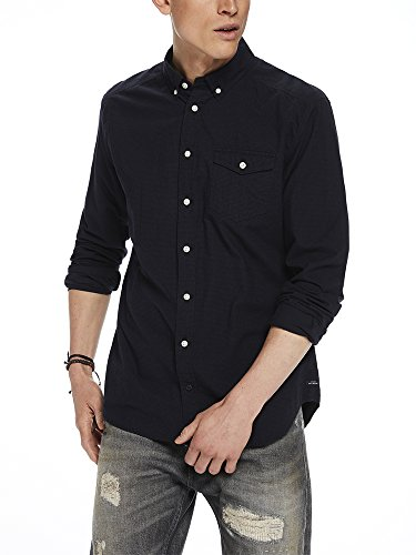 Scotch & Soda Herren Langarmshirt Lightweight Brushed Flannel Shirt With Workwear Elements Mehrfarbig (Combo D 20)