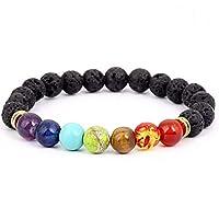 Men Black Lava Healing Balance Beads Reiki Buddha Prayer Natural Stone Yoga Bracelet For Women-xx