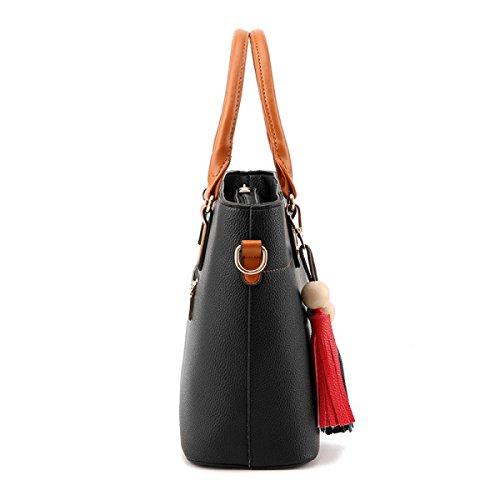 Damen Tasche Freizeit Tasche Schief Kreuz Paket Schultertasche Handtasche Einfach Wild Red