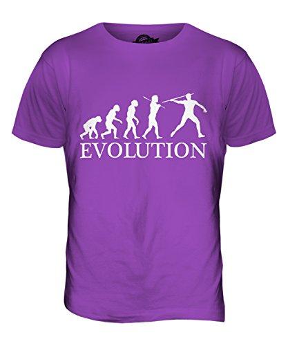 CandyMix Speer Evolution Des Menschen Herren T Shirt Violett