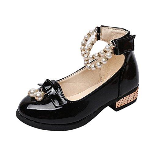 JERFER Baby Mädchen Perle Prinzessin-Schuhe Leistungsschuhe Lederschuhe für 3-5.5T/Jahre Alt (4-4.5T, - 3 Mädchen Schuhe Größe High-tops Baby