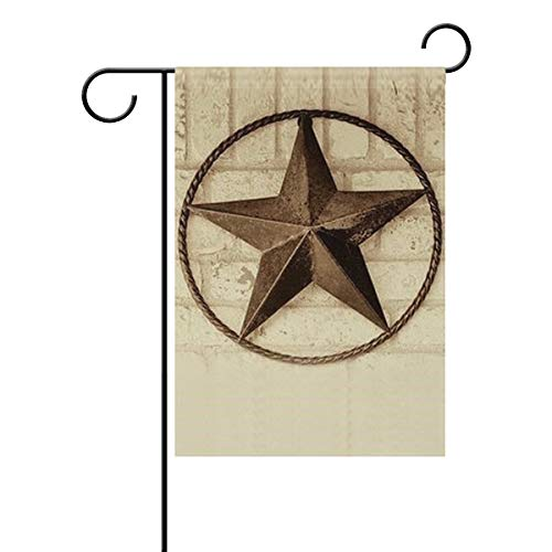 LINDATOP Texas Star Icon-Gartenflagge, 30,5 x 45,7 cm, doppelseitig, Garten-Dekoration, Polyester, Outddor-Flagge, Home Party, Polyester, Multi, 12x18(in) - Texas-akzent