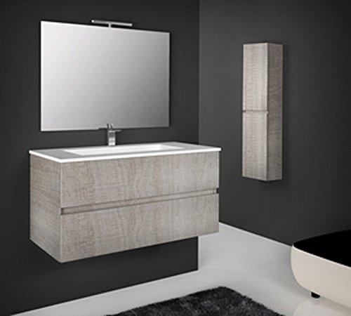 Salone-negozio-online mobile colonna sospesa bagno in legno 35x22x140h rovere corda