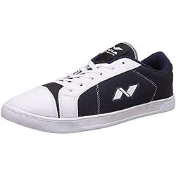 Nivia Men's White and Blue Sneakers - 8 UK/India (41 EU)(4965)