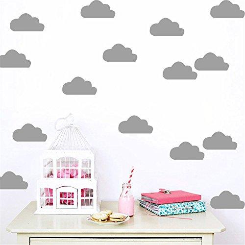Yanqiao 10Pcs/set Schön Wolken für Kinderzimmer Mode Dekoration Vinyl Entfernbare Hauptdekoration Wand Aufkleber DIY Materialien, - Origami Halloween-fledermaus