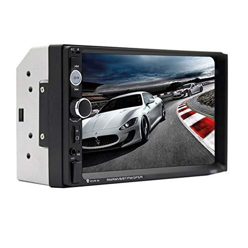 "Mini-Halbleiter Autoradio 7\""HD Player Touchscreen Auto Audio Stereo MP5 Bluetooth USB TF FM Kamera Multifunktionsradio (Color : with reversing Camera)"