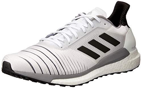 adidas Solar Glide M, Scarpe da Corsa Uomo, Bianco (Ftwrwhite/CoreBlack/Greythree), 45 1/3 EU