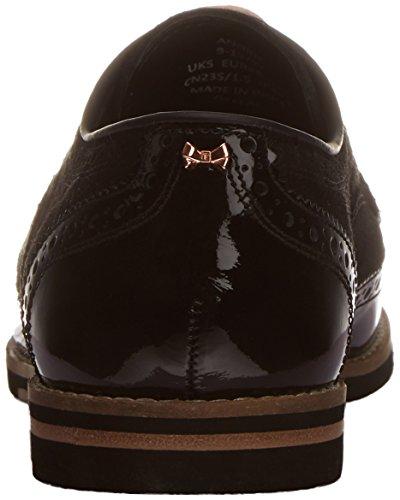 TED BAKER - Anoihe - Derby - femme Noir (BLACK PATENT LEATHER / SUEDE)