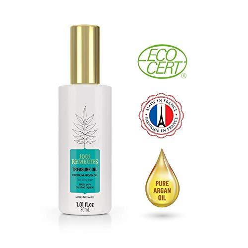 1001 Remedies Arganöl Bio Kaltgepresst- Haaröl, Wird das Haarwachstum Beschleunigen, Hilft Bei Haarausfall Frau- Natürliches Vitamin E Öl Ideal Als Anti Pickel Serum für das Gesicht 100{589ffad0ce5f3315bbd93c2afbb92e8a548e3c42c933c02106c08d1d8f04cefe} Pur-Vegan