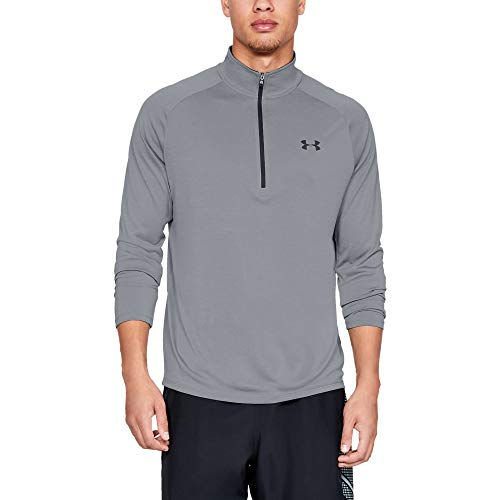 Under Armour Herren UA Tech 2.0 langärmliges Sportshirt mit Half Zip, sportliches Longsleeve, schnell trocknendes Langarmshirt für Männer - Armour Under Trainings-shirt Herren