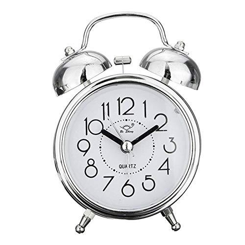 SYWAN Reloj Despertador de Doble Campanas con luz Nocturna, Gran Esfera de 3 Pulgadas, Vintage Despertadores...