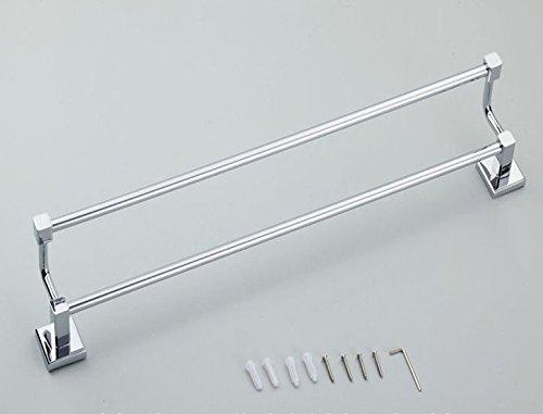 LHbox Tap Kupfer Double Bar Handtuch Rackmount-Server Halterung Badezimmer Handtuchhalter WC Edelstahl Farbe von Punch, Kupfer, Doppel, Punch, 65 cm - Bar-server-möbel