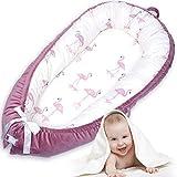 Cama Nido de Bebé Recién Nacido - 360 Protección Nido Bebe Cojín con Hebilla de Seguridad, Reductor de Cuna con Funda de Algodón Extraíble, Reversible Tumbona para Bebé