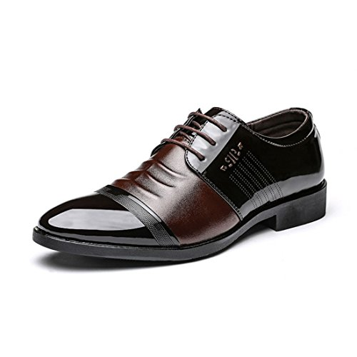 Men's Sapata De Vestido Lace Up Formal Shoes brown
