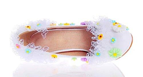 TDA , Semelle compensée femme 10cm Heel White