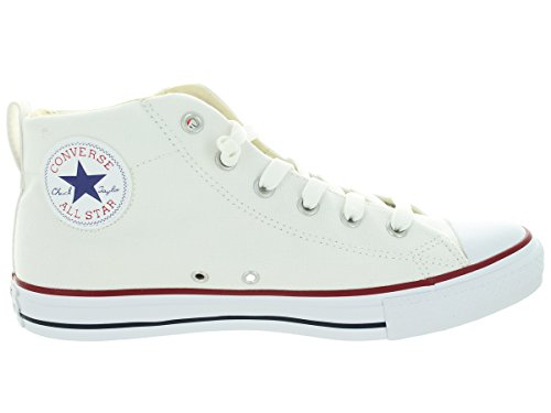 Converse Womens Chuck Taylor Street Mid Textile Trainers Blanc