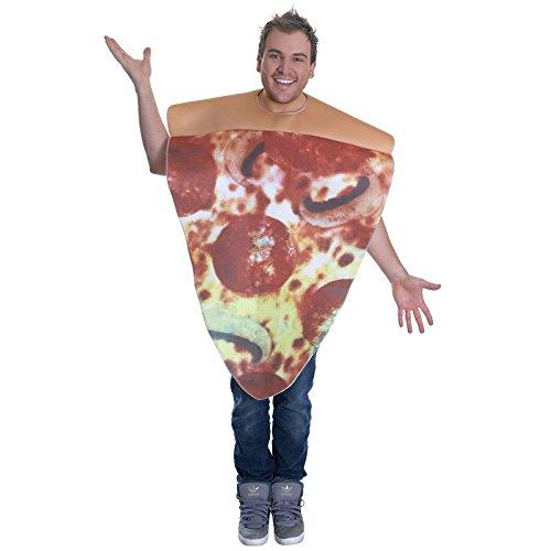 stüm Junggesellenabschied Spaß Frischer Nahrung & Drink Kostüm - Pizza ()