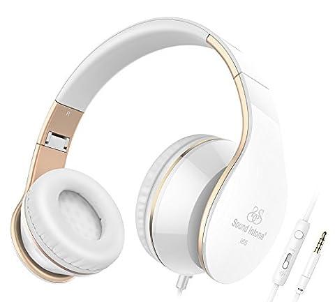 Sound Intone I65 Casque Stéréo - Nouvelle Génération, Design Ergonomique, Pliable avec Commande de volume - Compatible avec PC, Téléphones Portables Intelligents (iPhone/Samsung), PSP, Ipod et Mp3