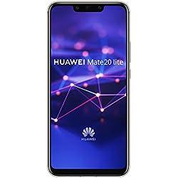 Huawei Mate 20 Lite Smartphone débloqué 4G (6,3 pouces - 64 Go/4 Go - Double Nano-SIM ou Nano-SIM + carte Micro-SD - Android) Or [Version européenne]