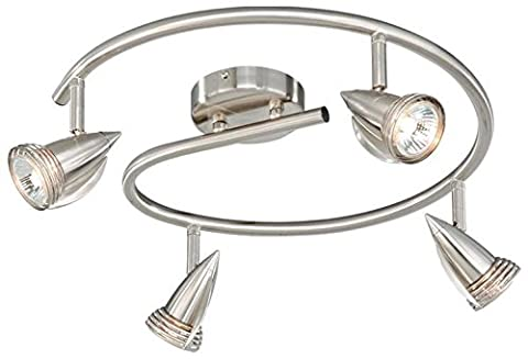 Vaxcel SP34118SN Garda 4 Light Line Voltage Spot Light, Satin Nickel Finish by Vaxcel