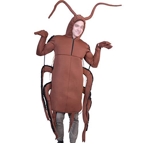 YCLOTH Halloween-Kostüm - Unisex Erwachsene Overalls Karneval festliches Kleid lustig, verbunden, Spielen, Kostüm, Party, Requisiten, Performance-Kleidung-Brown-L (Erwachsene Halloween-kostüme 2019 Lustige)
