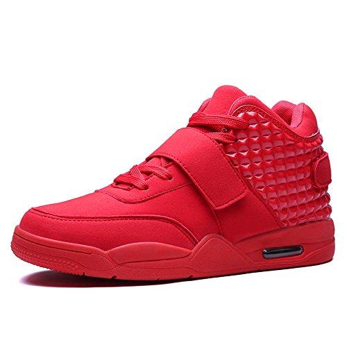 FZUU Männer Hochwertiger Sneaker Basketball Schuh Atmungsaktiv Herren Verschleißfeste Dämpfung Sportschuhe (43, Rot) Schuhe Basketball