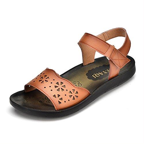 Chaussures de maman/Étés plates semelle souple shoes/ Magie de Lady Sandals A