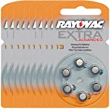 60 piles auditives Rayovac 13 Extra advanced / pile auditive PR48 / piles pour appareils auditifs / 13AE,A13,DA13,P13,PR13H