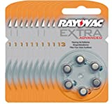 60 piles auditives Rayovac 13 Extra advanced/pile auditive PR48/piles pour appareils auditifs/13AE,A13,DA13,P13,PR13H