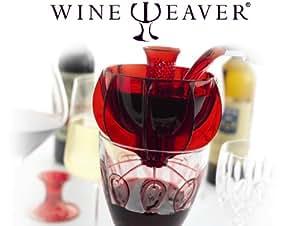 WineWeaver - Single Glass & Decanter Wine Breather Aerator Funnel [Red]