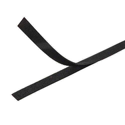 FIXMAN 419854 Selbstklebendes Klettband, schwarz 10 mm x 25 m - 2