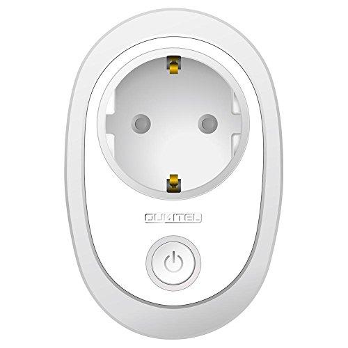 Youngsown Oukitel Mini WiFi Intelligent Single Socket Alexa con Timing Voice Telecomando Interruttore Intelligente per Smartphone Interruttori di Uscita, Spina UE