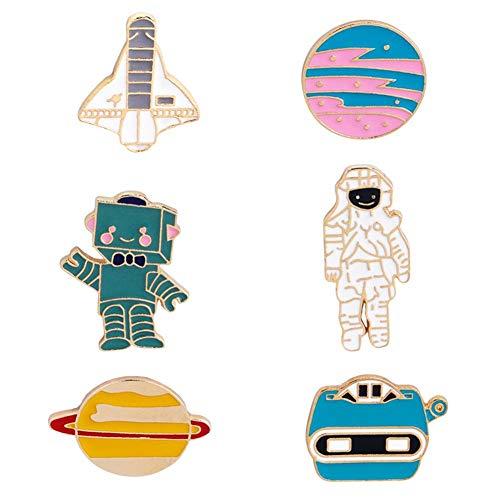 nnovative Brosche, Fee Niedlichen Emaille Revers Pin Set Cartoon Tier Brosche Flugzeuge Astronaut Robot Planet Pins Kawaii für Frauen Mädchen Teen Kinder ()