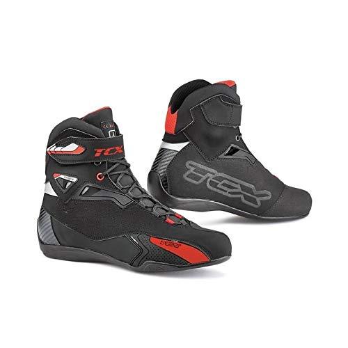 TCX Rush - Stivali da Moto, Misura 44, Colore: Nero