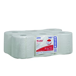 WypAll 7495  L10 Extra Wiper Centrefeed Roll Control, White, One Ply Sheets, Six Rolls x 525