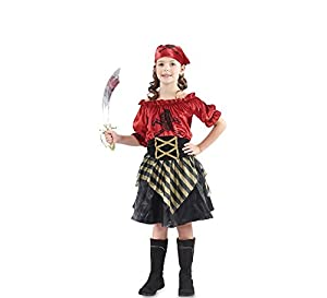 Fyasa 706046-t02pirata disfraz de niña, rojo, mediano