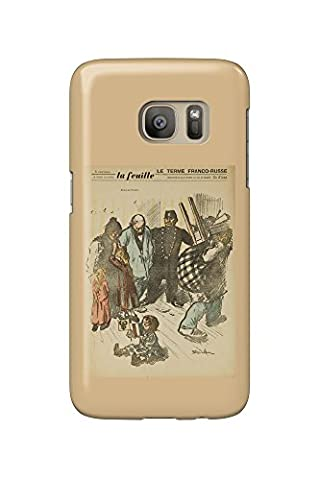 La Feuille (cover) Vintage Poster (artist: Steinlen, Theophile Alexandre) France (Galaxy S7 Cell Phone Case, Slim Barely There)