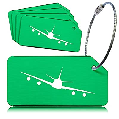 OctiLUX Luggage Tags for Travel Suitcase Aluminium Aero Design 5 Pack Multicolor : everything £5 (or less!)