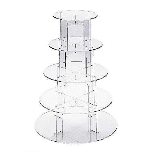 Muffins mit 5runden Ebenen, aus Acryl, ideal für eine Hochzeit, acryl, 5 tier ()