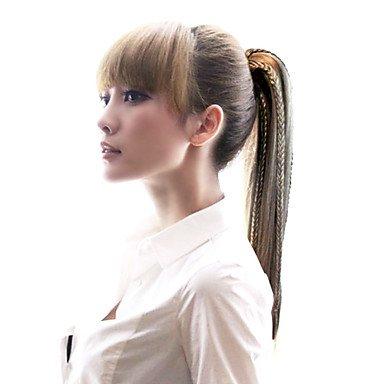 OOFAY JF® Di alta qualità sintetico coda di cavallo lungo rettilineo con Braid