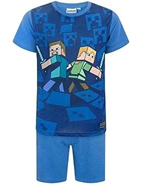 Minecraft Boy's Shortie Pyjamas 6 - 12 Years Various Styles