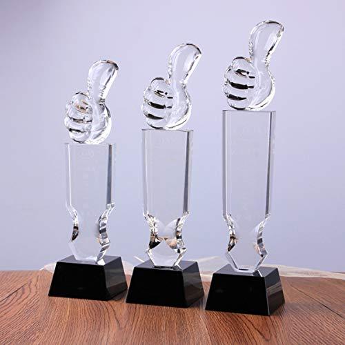 SryWj Kristall Trophäe Schriftzug Vatertagsgeschenk Kreative DIY Benutzerdefinierte Daumen Trophäe Persönlichkeit Guter Dad Award